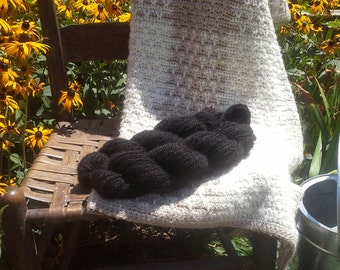 Handspun llama wool yarn