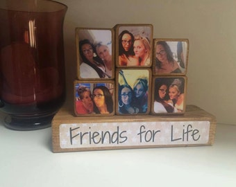 Photo Stacking Blocks / Photo Blocks - Friend / best friend gift / best friend / friendship gift / photo gift idea / photo block / keepsake