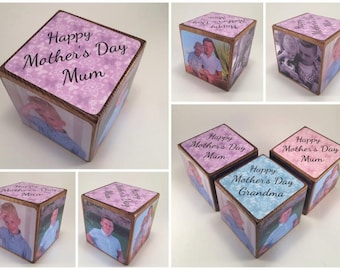 Photo Cube / Photo Block - Mum / Mam / Mummy / Mammy / Mother / Mother's Day Gift / photo gift / photo gift idea / wooden photo block