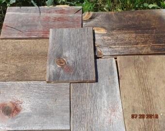 7 Pieces Reclaimed Barn Siding Short Boards