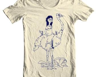 Ostrich Girl Tee Shirt