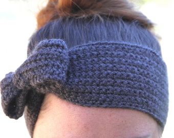 Bow Ear Warmer - Women's Ear Warmer - Girls Ear Warmer - Winter Headband - Fall Headband