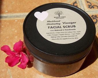 8oz Blackhead eliminating Vinegar(acv) + Lavender Face Scrub (8oz) - oily skin scrub - Anti bacterial scrub - cleansing scrub