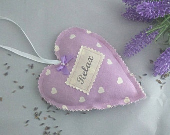 lavender hanging heart sewn heart lavender filled heart lilac heart purple heart lavender scented gifts for her lavender seeds relax