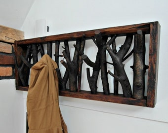 Unique Wood CLOTHES HANGER made of branches