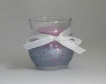 Lavender candle holder