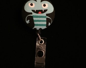 Germ Killing Monster -Nurse Retractable ID Badge Reel/ RN Badge Holder/Doctor Badge Reel/Nurse Badge Holder/Nursing Student Gifts