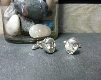 Skull Cufflinks in sterling silver