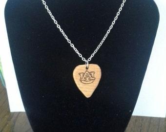 Auburn Guitar Pick Necklace
