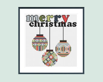 Cross stitch pattern, christmas cross stitch pattern, modern cross stitch pattern, xmas cross stitch pattern, instant download