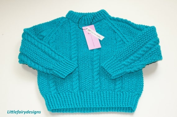 JADE Hooded baby pullover