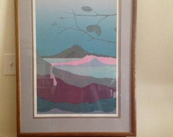 Limited Edition Landscape Modern Abstract Prints Signed  ALEX MILES & Carl Piazini