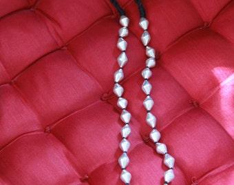 Dholki beads necklace in 92.5 pure silver (Brand New)