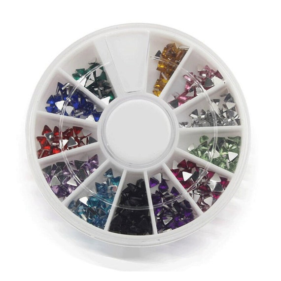 Triangle acrylic rhinestone nail art supplies acrylic for Acrylic nail decoration supplies