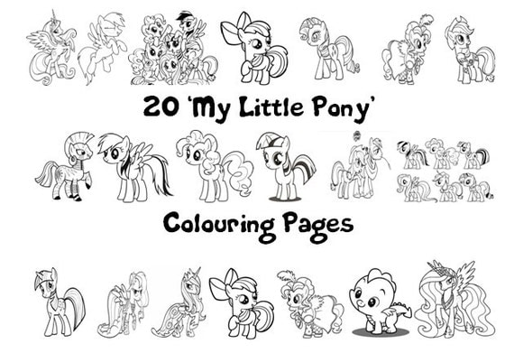 My Little Pony Coloring Pages A4 : My little pony friendship is magic colouring book pack