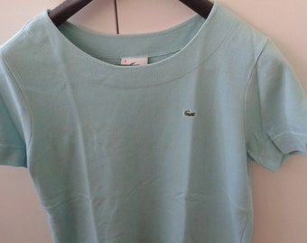 Turquoise short sleeve POLO TOP LACOSTE 90