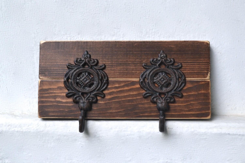 key rack rustic key hook wall key holder by cratesandpine. Black Bedroom Furniture Sets. Home Design Ideas