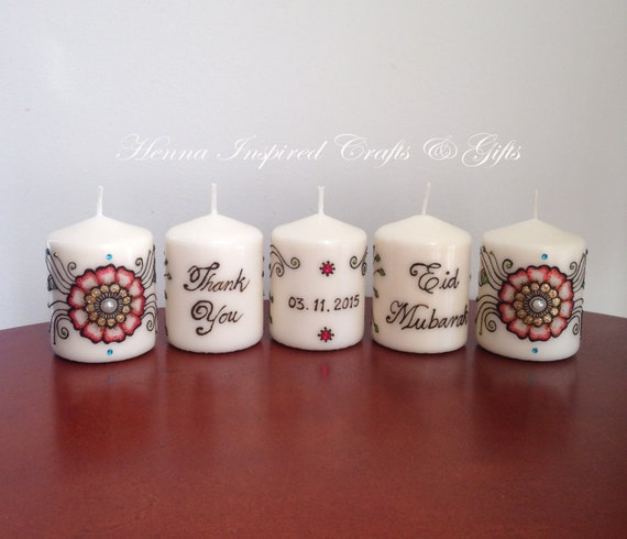 Mehndi Candles Personalised : Personalised henna candles makedes