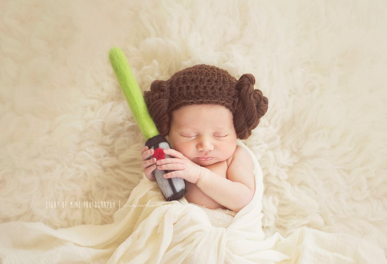 Princess leia beanie newborn baby child leia hat leia for A star is born kids salon