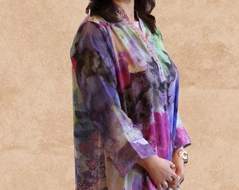 Two piece Silk Chiffon Dress & Wrap