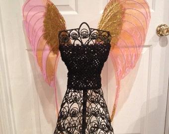 Glitter Fairy Goddess iridescent wings  fairy princess halloween costume