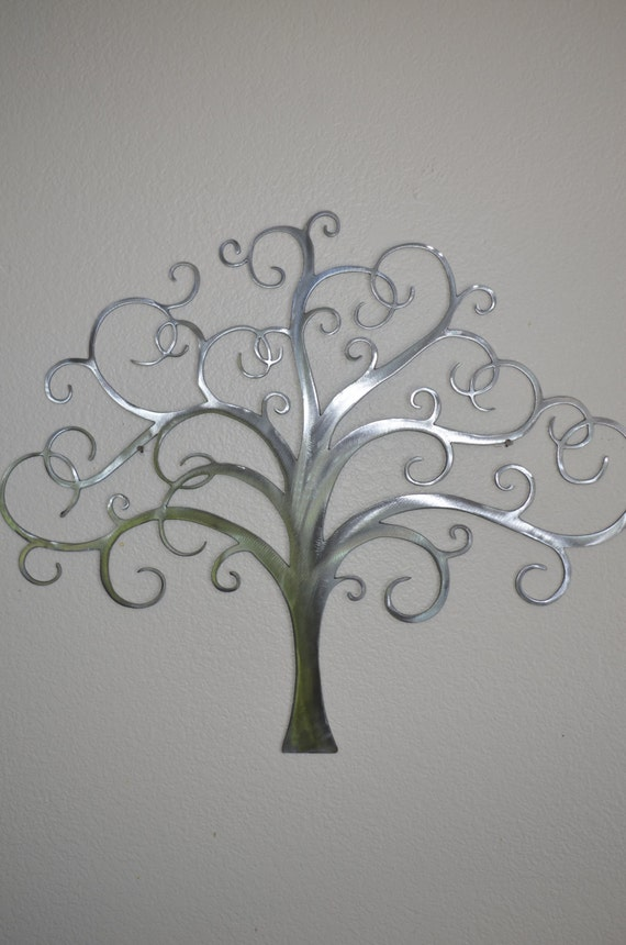 large whimsical tree of life metal wall art decor by. Black Bedroom Furniture Sets. Home Design Ideas