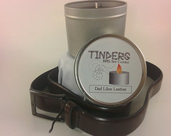 Dad Likes Leather Tinders Soy Candle