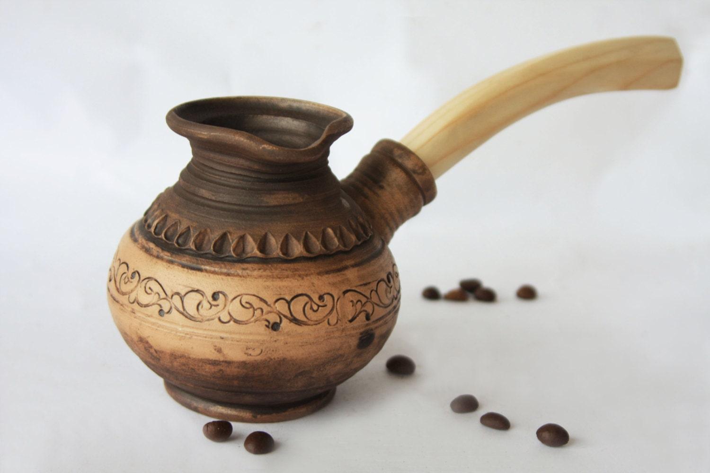 Ceramic Espresso Maker ~ Rustic turkish coffee pot ceramic cezve handmade maker