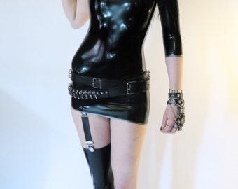 Asymetric Mini Dress ''Missing'' incl Stocking