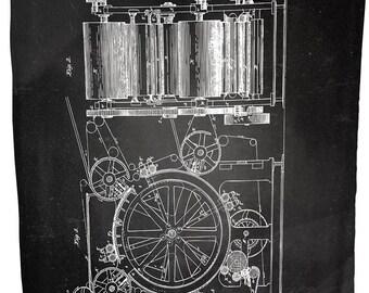 "Coral Plush Blanket (Printing Press) 60"" x 80"""