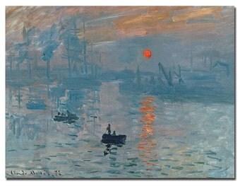 Sunrise by Claude Monet Canvas Wall Art, 18x24-Inch