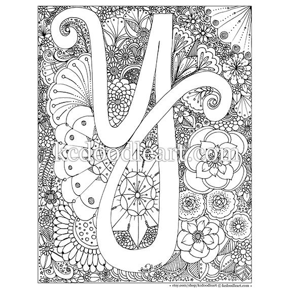 letter y alphabet coloring pages for kids letter y words
