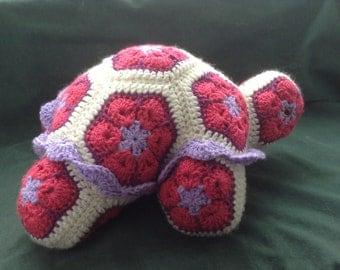 Crochet African Flower Tortoise