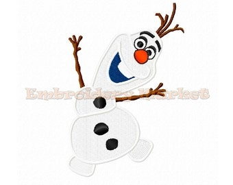 cute olaf embroidery design 3 sizes Instant Download