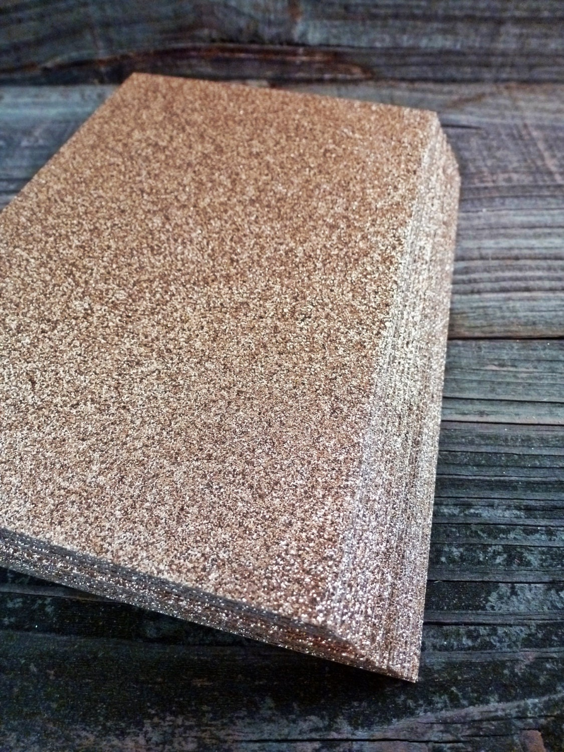 rose gold glitter notecards blank one sided glitter
