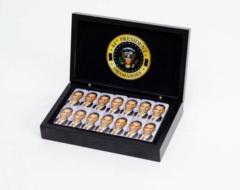 Obama Dominoes: Obamanoes! The First and Only Commemorative Presidential Domino sets!