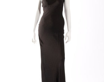 1930s Crepe Evening Gown