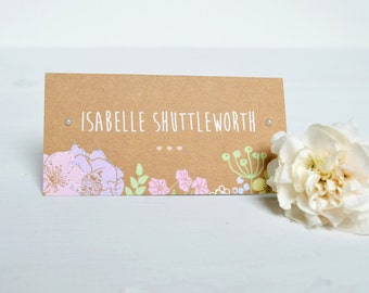 Pretty in Pastel Place Card