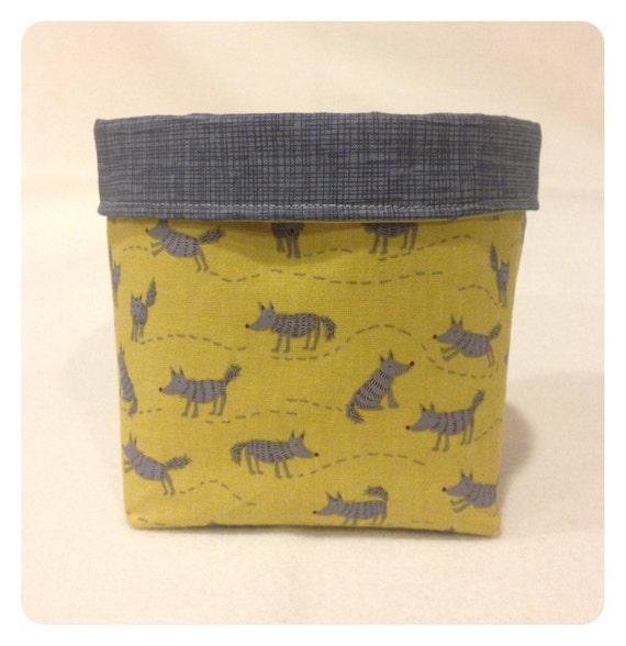 Extra Small Fabric Bin Storage Bin Cloth Bin Mustard