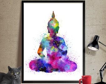 Buddha Wall Art, Buddha Painting , Yoga Print, Watercolor Buddha Art Print, Buddha Wall Art Print Yoga Poster ,Buddha Poster(33)