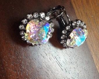12mm Bling Aurora Borealis Earrings