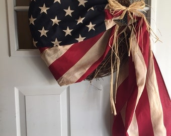 Stained Americana flag wreath!