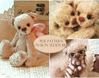 PDF Pattern Teddy Bear Bon-Bon, instant download