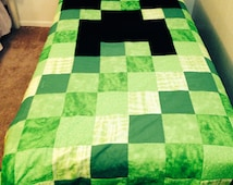 Popular Items For Minecraft Quilt On Etsy