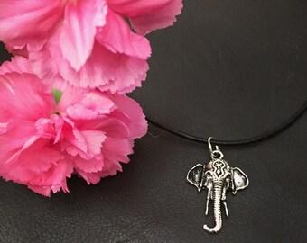 Elephant Head Choker / Chain Necklace