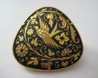 Vintage Damascene Brooch Pin