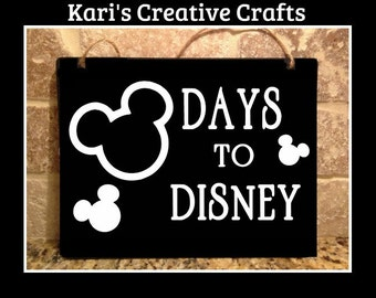 Disney Countdown Chalk Board, Countdown Hanging Sign, Disney Vacation Countdown, Disney, Vacation Countdown