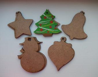 Wood cutouts etsy for Wooden christmas cutouts