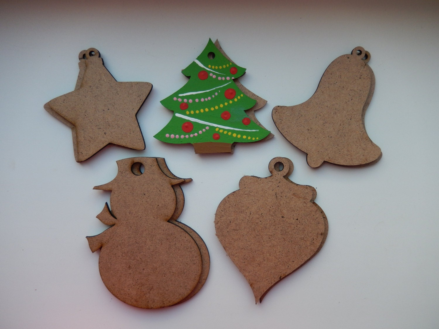 Christmas Wood Ornaments Christmas Decorations Unfinished