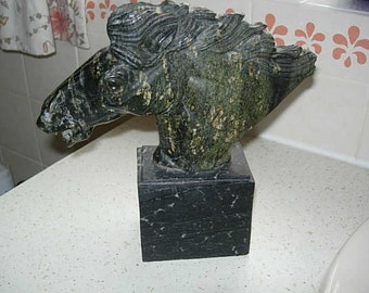 art deco horses head sculpture